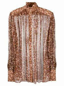 Zimmermann leopard print blouse - Brown