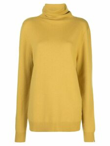 Extreme Cashmere loose-fit roll-neck jumper - Yellow