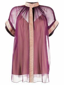 Maison Rabih Kayrouz loose-fit sheer blouse - PURPLE