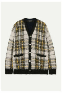 Junya Watanabe - Oversized Checked Wool-blend Cardigan - White