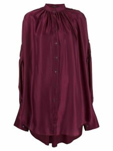 Ann Demeulemeester oversized draped shirt - Red