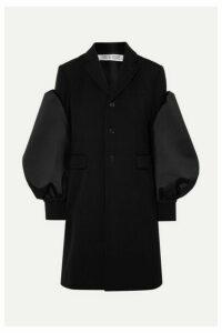 Comme des Garçons Comme des Garçons - Satin-trimmed Wool Blazer - Black