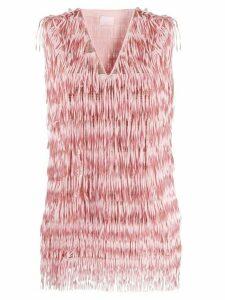 Giamba ombre fringe blouse - PINK