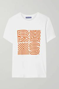 Paradised - Rays Printed Cotton-jersey T-shirt - White