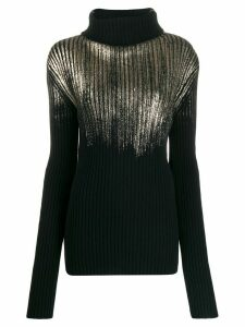 Ann Demeulemeester ribbed knit sweater - Black