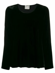 Forte Forte long sleeved velvet blouse - Black