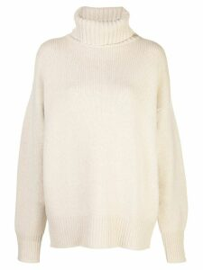 Extreme Cashmere oversized roll-neck jumper - Neutrals
