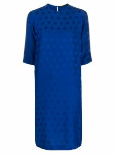 Haider Ackermann polka-dot jacquard dress - Blue