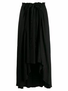 Ann Demeulemeester asymmetric hem crepe skirt - 099 BLACK