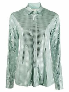 Bottega Veneta mirror sequin detail shirt - Green