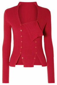 Jacquemus - La Maille Azur Ribbed-knit Sweater - Red