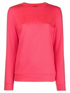 Ea7 Emporio Armani tonal logo sweatshirt - PINK