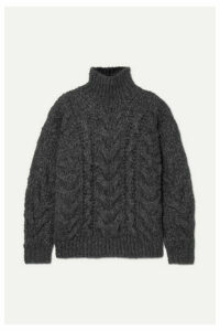 IRO - Sirah Oversized Cable-knit Turtleneck Sweater - Charcoal