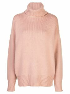 Extreme Cashmere oversized roll-neck jumper - Pink