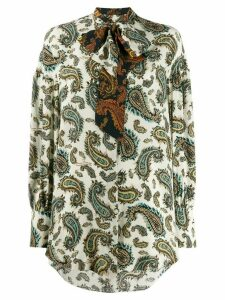 Rokh paisley print shirt - NEUTRALS