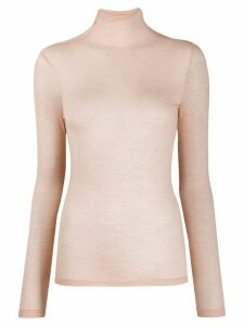 Semicouture turtle neck knit top - Pink