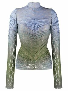 House of Holland fitted lace top - Blue