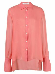 Carolina Herrera sleeve tie shirt - PINK