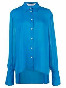 Carolina Herrera ruffled shirt - Blue