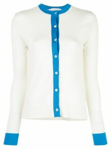 Carolina Herrera contrast border cardigan - White