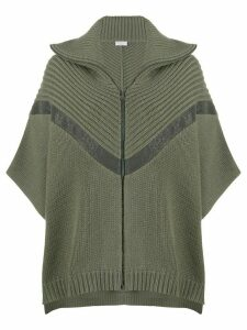 Brunello Cucinelli knitted cape jumper - Green