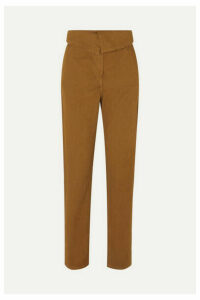 Vanessa Bruno - Marx Stretch Cotton-twill Tapered Pants - Mustard