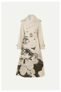 Valentino - Printed Cotton-gabardine Trench Coat - Beige