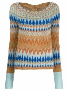 ALESSIA SANTI argyle-knit jumper - Blue