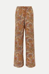 Etro - Paisley-print Wool And Silk-blend Straight-leg Pants - Beige