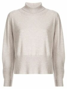 Fabiana Filippi side slit jumper - Grey