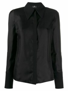 Elisabetta Franchi pointed collar shirt - Black