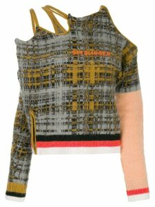 Ottolinger cutout checked jumper - Grey