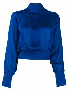 Balmain silk turtleneck blouse - Blue