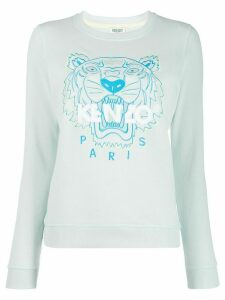Kenzo tiger logo embroidered sweatshirt - Blue