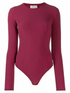 Murmur long-sleeve fitted top - Red