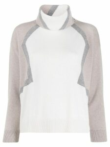 Lorena Antoniazzi turtleneck colour-block jumper - Grey