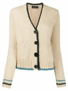 Roberto Collina contrast long-sleeve cardigan - Neutrals