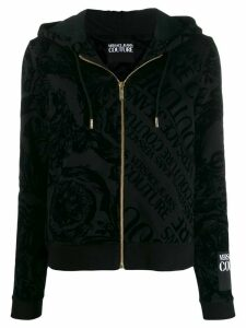 Versace Jeans Couture baroque logo print hoodie - Black