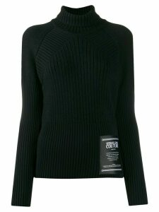 Versace Jeans Couture Etichetta patch ribbed jumper - Black