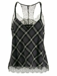 Gold Hawk plaid pattern camisole top - Grey