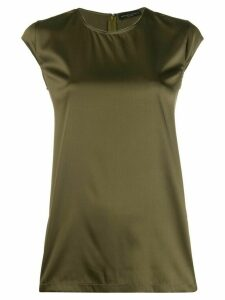 Fabiana Filippi short-sleeved shift blouse - Green