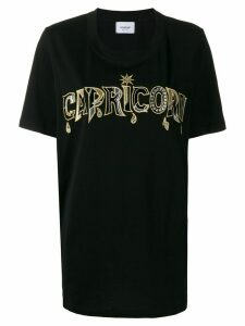 Dondup Capricorn slogan T-shirt - Black