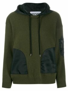 Moschino hooded long-sleeve jumper - Green