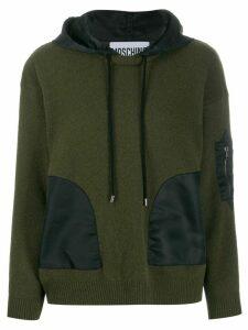 Moschino hooded long-sleeve jumper - Green