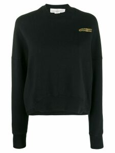 Golden Goose chest logo boxy sweatshirt - Black