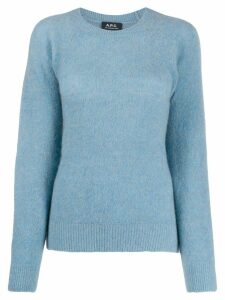 A.P.C. round-neck knit sweater - Blue