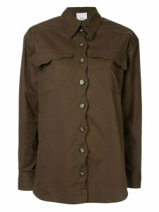 Acler Tana denim shirt - Green