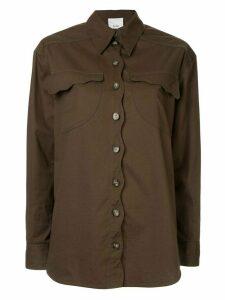 Acler Tana denim shirt - Green