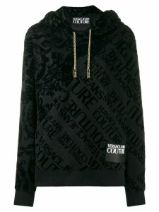 Versace Jeans Couture mixed-patterned chain hoodie - Black