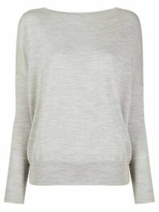 Zanone boat neck jumper - Grey